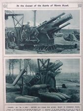 1917 BATTLE OF MENIN ROAD HOWITZERS; QUICK BUILD STANDARD SHIPS U-BOATS WWI WW1