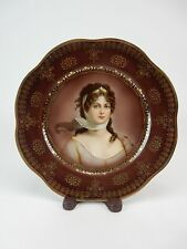 Royal Vienna Prussian Queen Louise Portrait Plate - 9.25""