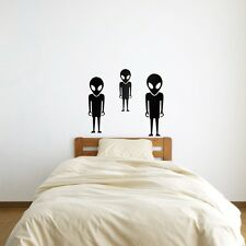 Aliens Are Coming Vinyl Wall Art Decal for Home Decor / Interior Design / Bed...