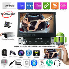 7''1 Din GPS Android Car Radio+CAM Wifi Wireless Mirror Link BT Touch Screen FM
