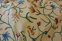 Set(3 meter) Wool embroidery Kashmir Handmade Curtains Fabric Upholstery Fabric