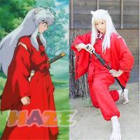 Anime INUYASHA Helle Rote Kimono Kostüm Cosplay Halloween Erwachsene Kleid