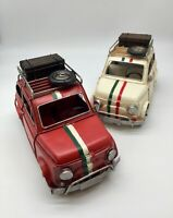 Fiat 500 classic Vintage Tin Plate Giftware Cars Planes Retro Men's Gifts Large