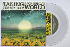 TAKING BACK SUNDAY JIMMY EAT WORLD SPLIT mega rare 7 INCH VINYL RECORD BRAND NEW