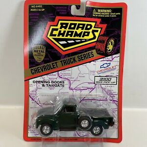 1995 Road Champs Green 1953 Chevrolet 3100 Pick-Up Truck, 1/43 Scale
