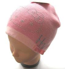 Strick Mütze Hello Kitty Gr.54 Sanrio NEU rosa glitzer Schleife zweilagig kinder