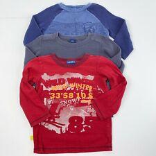 Naartjie Kids Boys Size XS 3 Long Sleeve Tee Top Shirt LOT Gray Blue Red