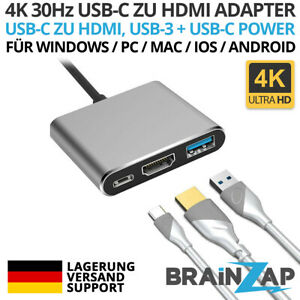 HDMI Typ C USB-C HUB HDMI Adapter USB C zu HDMI Adapter USB 3.1-3.0 2 in 1
