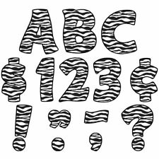 "Zebra Print Funtastic 4"" Letters Uppercase Pack Teacher Created Resources Tcr537"