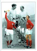 Jack CHARLTON Signed England 1966 World Cup 16x12 Autograph Photo B AFTAL COA