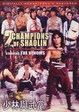 2 champions of shaolin -Hong Kong RARE Kung Fu Martial Arts Action movie - NEW D