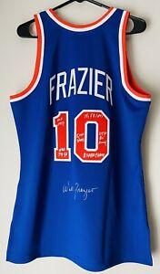 Walt Frazier New York Knicks Signed Mitchell & Ness NBA Auto Stat Jersey JSA COA
