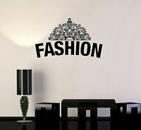 Vinyl Decal Fashion Crown Girl Room Beauty Salon Style Wall Stickers (ig3397)