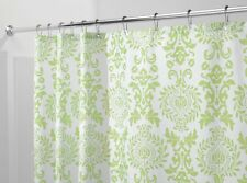 """mDesign Toile Fabric Shower Curtain - 72"""" x 72"""", Lime Green"""