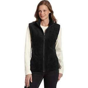 NWT Woolrich Womens sz M - kinsdale Full Zip Corduroy Vest black Medium M