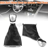 5 Speed Gear Stick Shift Knob Gaiter Boot Cover For Ford Focus C-MAX MK2 MK3