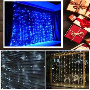 200/300 LED Curtain Fairy Lights Waterproof Outdoor & Indoor Party & Garden Deco