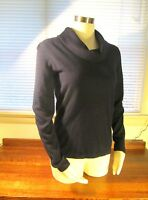 "NWOT Lauren Ralph Lauren Petite ""America"" Navy Blue Wool Blend Sweater PS $109"