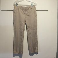 Banana Republic Women's Pants Size 6 Martin Fit Khaki Ankle Length Stretch