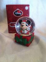 Collectible 2013 Disney USO Wishbook Mickey Mouse Santa Snowglobe New in Box