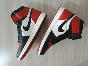 Air Jordan 1 Retro High OG Gym Red White Black 555088 610 Bred Toe Size 10
