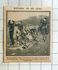 1915 French Artillery Officers Watching Taube Chased By Allied Airmen