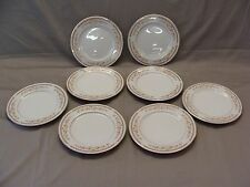 8 Ekco International Salad Plates In The Golden Autumn Pattern, Made In Japan