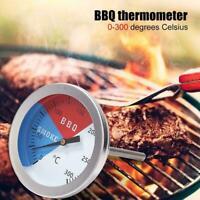 Edelstahl BBQ Thermometer Rauchergrill Temperaturanzeige D0W1