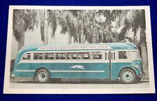 Southeastern Greyhound Lines Florida Flier Bus 1930s Unused Advertising Postcard