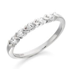 0.35CT PEAR SHAPE DIAMOND 18CT WHITE GOLD ETERNITY ENGAGEMENT 5 STONE RING + BOX