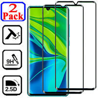 2-Pack For Xiaomi Mi Note 10 CC9 Pro FULL COVER Tempered Glass Screen Protector
