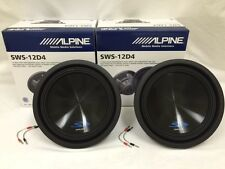 "(2) X SWS-12D4 ALPINE 12"" SUB DUAL 4-OHM TYPE-S 1500W MAX CAR SUBWOOFER SPEAKER"