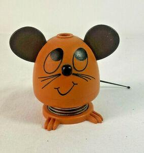 Mid Century Kitsch Mouse Bobble Head Pen Holder German Retro