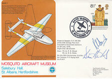 MAM8b 51st Anniv Maiden Flight of De Havilland 1st engine Gypsy. Double Signed