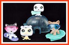 Littlest Pet Shop HUSKY DOG #210 #358 SEAL #1076 1030 Sled Igloo Winter GIFT BAG