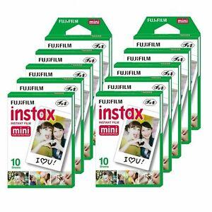 10 Packs Fujifilm Instax Mini Film,100 Fuji instant photos 7s 8 50s 90 SP-1 300