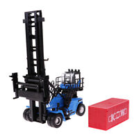 1:50 Blue Empty Container Stacker Forklift Truck Diecast Vehicle Model Toy
