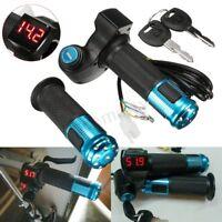 Electric Scooter Throttle Grip Handlebar LED Digital Meter 24V 36V 48V 60V