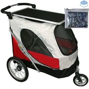 PETSTRO Stroller SKYLINE 701GX-RD Tisch / Regenschut Rot | Buggy Wagen Poussette