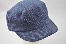 d5330a0cc65 D Y David   Young Elastafit Hat Military Cadet Blue Plaid Cap Checkered