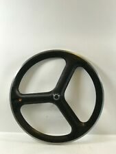 HED 3 Carbon Tri Spoke Tubular Front Wheel 700c *Great Condition*