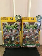 """Plants vs Zombies Comic Book Pack Action Figure, 3"""" (lot of 2)"""