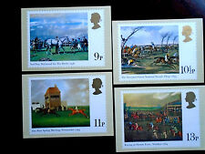 GB 1979 HORSE RACING PAINTINGS PHQ CARDS SET No.36 4 values to 13p MNH.