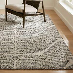 Crate & Barrel Eden Natural Color Handmade Modern Elegant Woolen Rugs & Carpet
