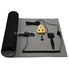ESD, Anti-Static Earth Bench Mat (1200 X 500mm) & European Grounding Plug Kit