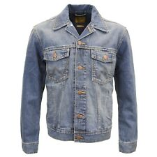 Wrangler hombre Diseñador marca Clásico vaquero chaqueta Denim piedra media 3XL