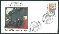 1984 VATICANO VIAGGI DEL PAPA SPAGNA ZARAGOZA - SV