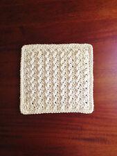 NEW Crochet 100% Organic Cotton Crochet Face Washer Towel Bath Wash Cloth Baby