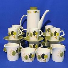 Unboxed Green 1960-1979 Staffordshire Pottery Tableware