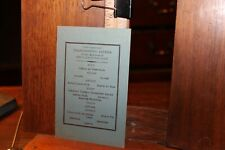 Antique Yale Club of New York City Thanksgiving Dinner Menu Circa 1910